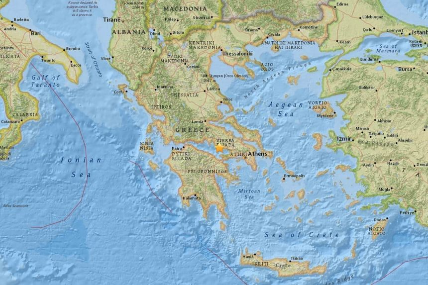 An earthquake with a preliminary reading of 4.6 rattled Athens and central Greece on Dec 31, 2017.