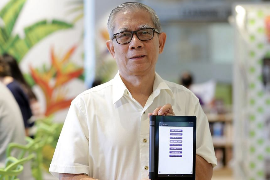 """Mr Tan Pheng Huat, 64, who created the StartBizUp app to help start-ups, says retirees' expertise """"can still be put to good use""""."""