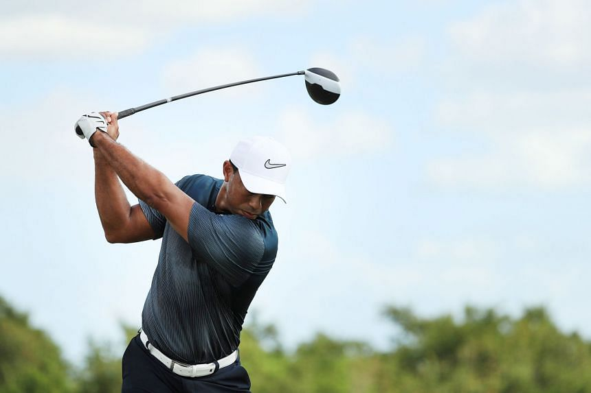 Tiger Woods at the Hero World Challenge on Dec 2. It was his first competitive appearance since February, having undergone spinal fusion surgery after pulling out of the Dubai Desert Classic.