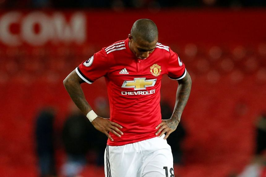 Young (above) will miss Premier League games against Everton and Stoke City.
