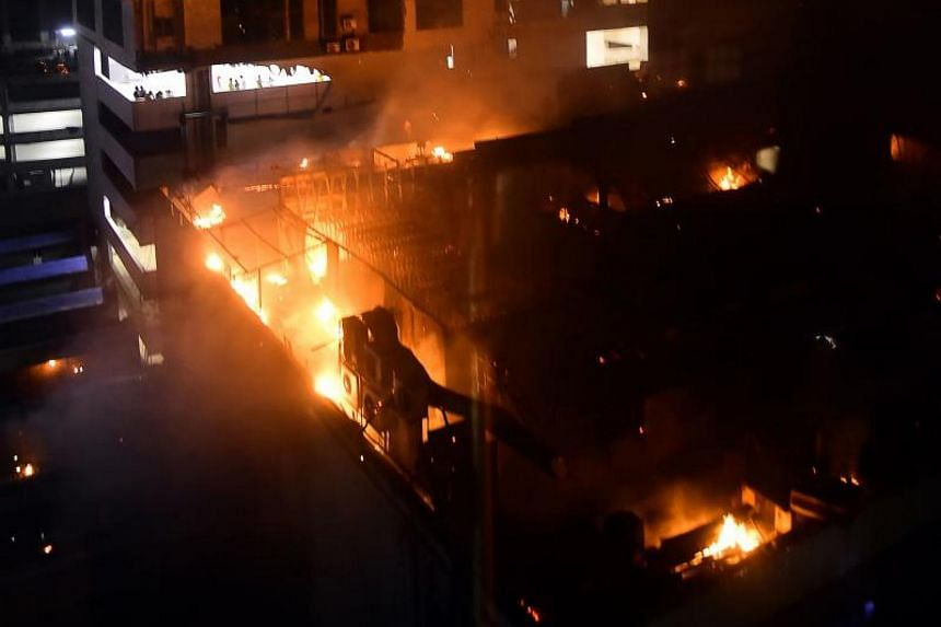 """A huge fire killed 14 people at the """"1Above"""" restaurant in Mumbai, India, on Dec 29, 2017."""