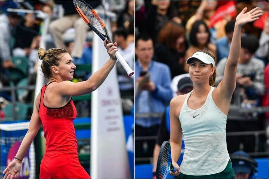 Romania's Simona Halep (left) swatted aside American Nicole Gibbs while Russia's Maria Sharapova (right) was flawless in her straight sets victory over Romania's Mihaela Buzarnescu in the opening round of the Shenzhen Open.