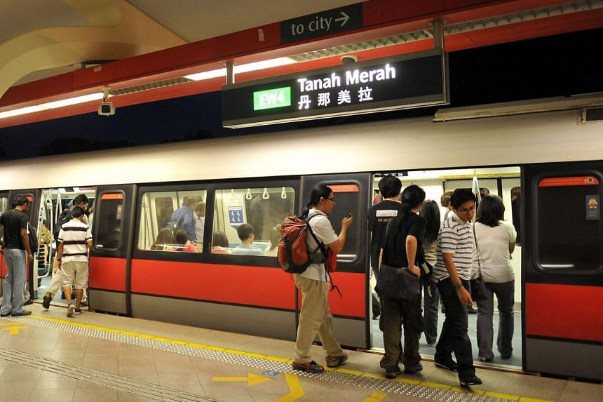 In a tweet at 5.49am, SMRT asked commuters to add 30 minutes train travel time between Changi Airport and Tanah Merah stations.