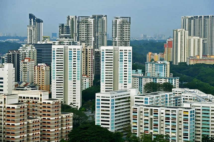 Blocks of HDB housing flats around Whampoa area in the central part of Singapore.