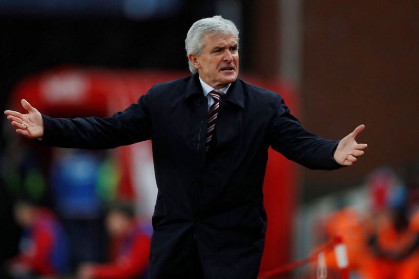 Stoke City manager Mark Hughes has seen his side slide to fifth from bottom with just one win in their last seven league matches.