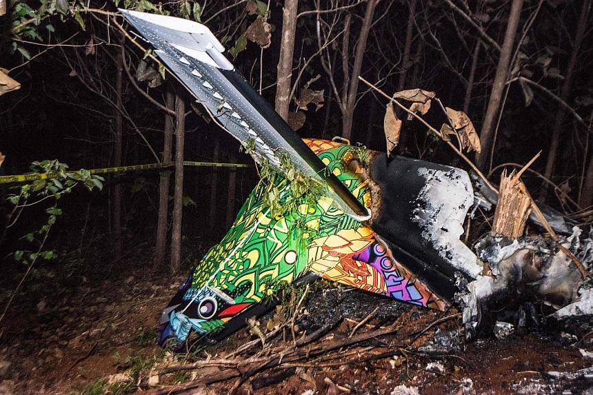 The wreckage of the plane that crashed in Guanacaste, Costa Rica, on Sunday. All 10 passengers and the two pilots were killed.