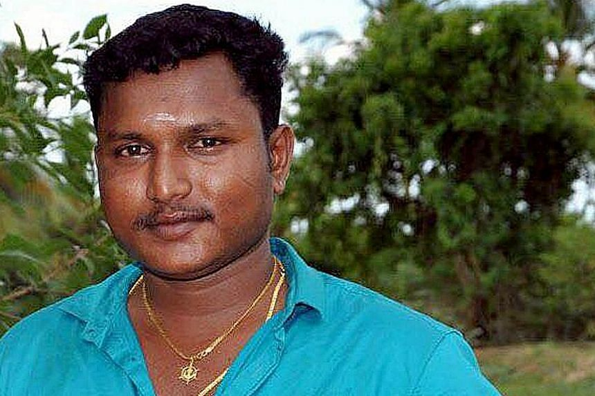 Mr Selvam Veeraiyah, 33, was hit by a truck on Dec 22 while repairing a pothole on West Coast Highway. The construction worker, who came to Singapore seven years ago, got married only six months ago.