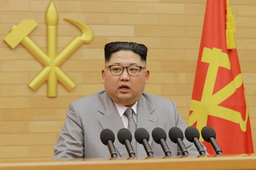 For his New Year's speech, Mr Kim Jong Un traded his usual atonal, Mao-collared outfits for what looked like the sort of silver-gray suit and matching tie that come straight from the elder statesmen costume department.