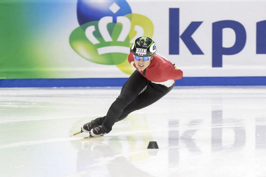 Cheyenne Goh at  the ISU World Cup 2017 in Seoul. The first Singaporean to qualify for a Winter Olympics is a recipient in the under-18 High Performance category.