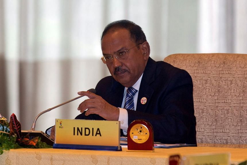 Indian National Security Adviser Ajit Doval at a meeting at the Diaoyutai state guesthouse in Beijing on July 28, 2017.