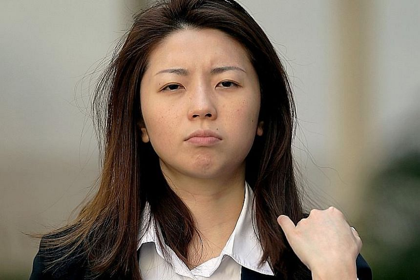 Dina Huang Chih-Yung was jailed three weeks for hitting a cabby on his arm on Dec 7, 2016. She was fined $1,000 for abusing a security officer.