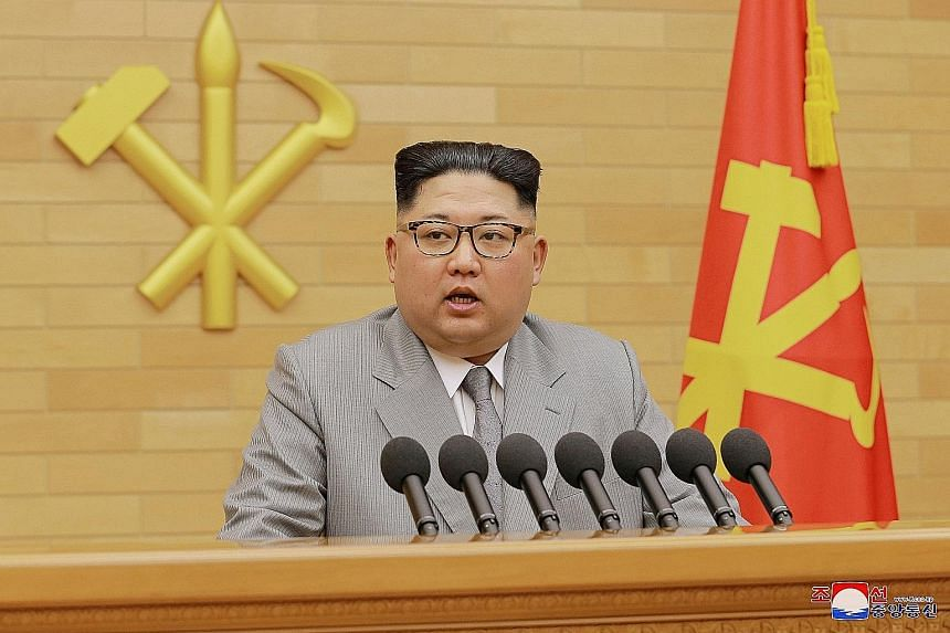 North Korean leader Kim Jong Un traded his usual Mao-collared outfits for a new look in his New Year's speech in Pyongyang.