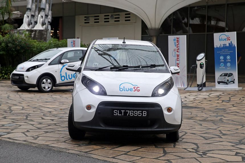 BlueSG said it received more than 100 rentals in its first three hours of service.