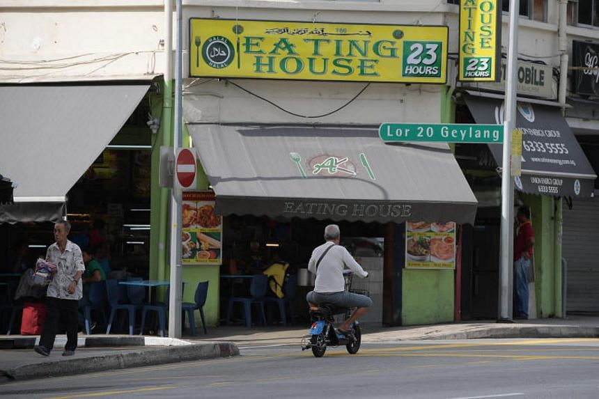 Within the span of an hour, a total of six PMD users were seen riding on Geylang Road and Sims Avenue.