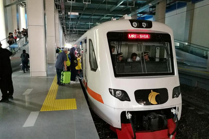 A Railink train, which connects Jakarta city with Soekarno-Hatta airport. Indonesia said it is planning similar rail services for three other cities.