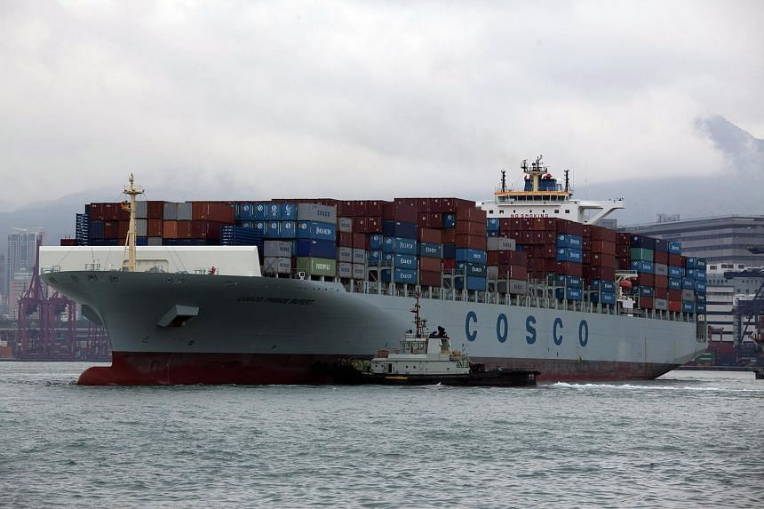 File photo of a COSCO Prince Rupert container ship in the Kwai Tsing Container Terminals, in Hong Kong.