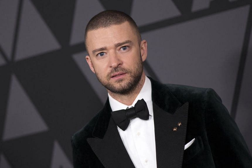 File photo of singer JustinTimberlake at the the 2017 Governors Awards in Hollywood, California on Nov 11, 2017.