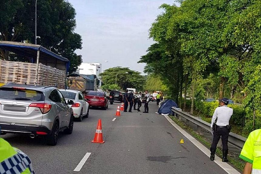 A man in his 30s died in a traffic accident on the Pan-Island Expressway (PIE) early yesterday morning, a spokesman for the Singapore Civil Defence Force (SCDF) said. The SCDF was alerted to the accident on the PIE, towards Tuas, after Upper Jurong R