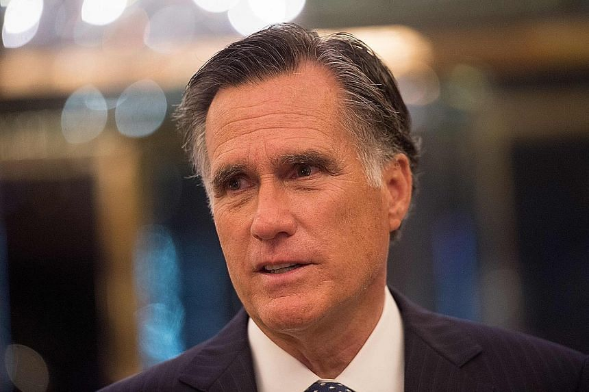 Mr Mitt Romney is one of President Donald Trump's harshest critics. Mr Orrin Hatch is credited with helping push the tax overhaul in Congress.