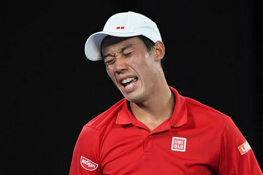Kei Nishikori has not played competitively since last August after suffering a torn tendon in his right wrist during a practice session.