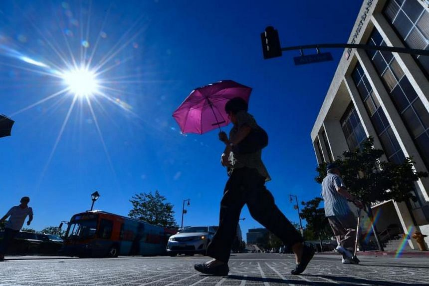 A hot, sunny morning in Los Angeles amid a late season heatwave hitting southern California on Oct 24, 2017.