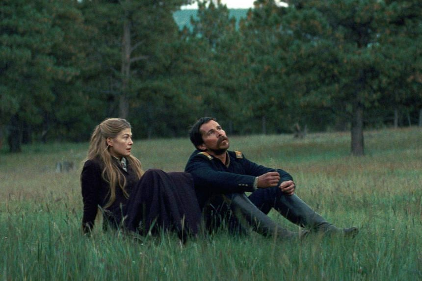 Hostiles, which stars Christian Bale and Rosamund Pike, has an Old West setting, horses in sweeping landscapes and Native Americans out for blood.