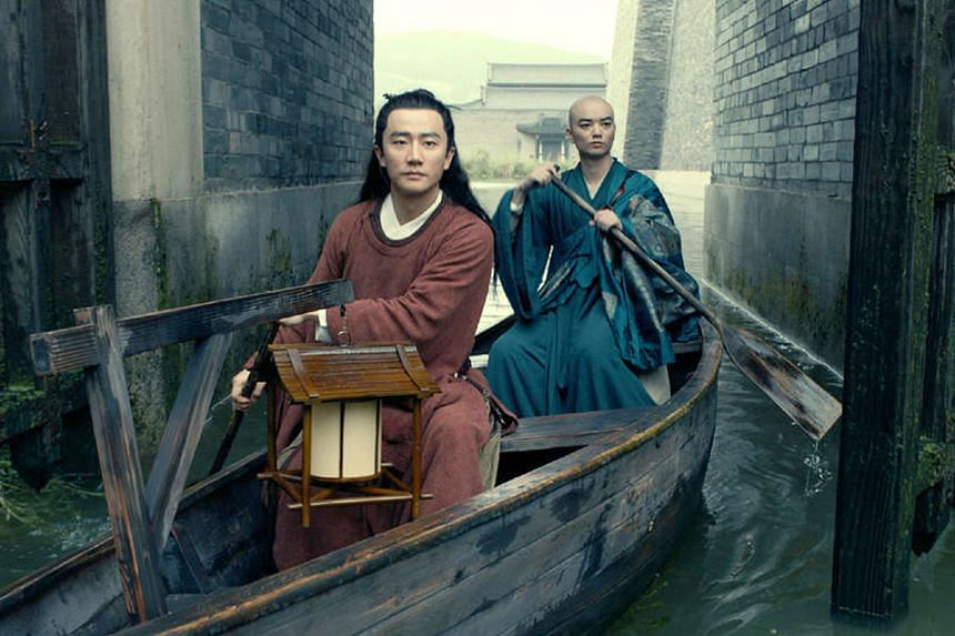 Huang Xuan (left) and Shota Sometani try to unravel mysterious deaths in Legend Of The Demon Cat.