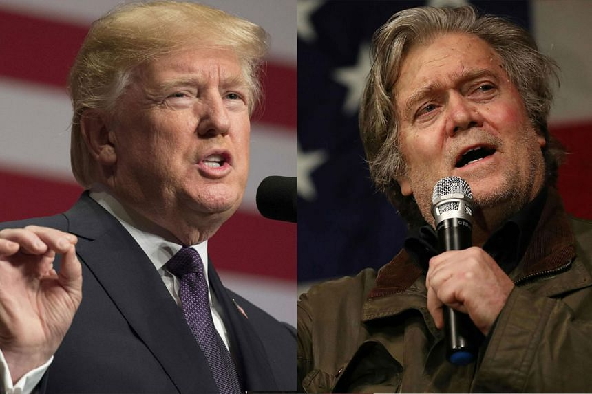 US President Donald Trump (left) had relied heavily on Steve Bannon for advice in the months leading up to the November 2016 election.