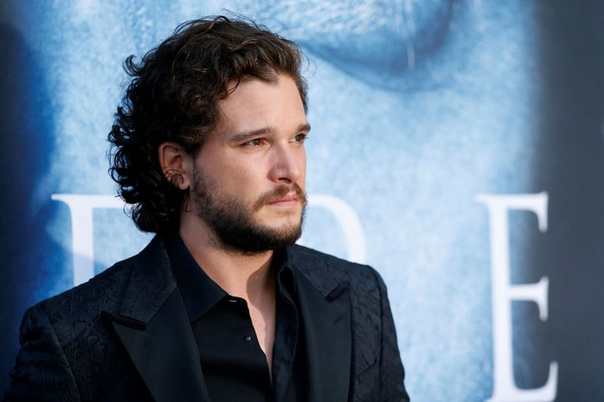 Cast member Kit Harington poses at a premiere for season seven in Los Angeles, in July 2017.