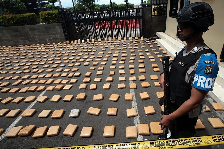 In a New Year's Eve drug bust, the Indonesian authorities seized 1.3 tonnes of marijuana at a port near Lampung, on the southern tip of Sumatra island. They were found hidden inside several vehicles waiting to cross to West Java, local media reported