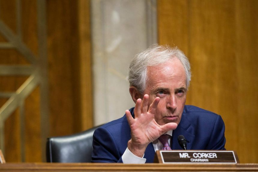 Senate Foreign Relations Committee chairman Senator Bob Corker at a Senate Foreign Relations Committee on Capitol Hill in Washington, DC.
