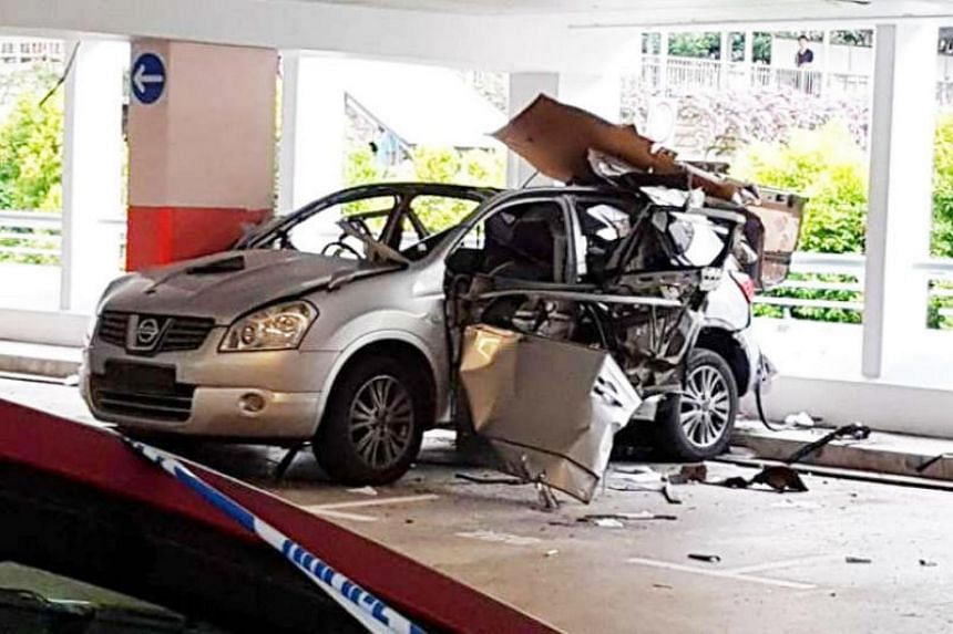 Dwight Soriano had bought butane gas, which was ignited by a spark from his lighter and caused an explosion at the multi-storey carpark at Block 290H, Bukit Batok Street 24.