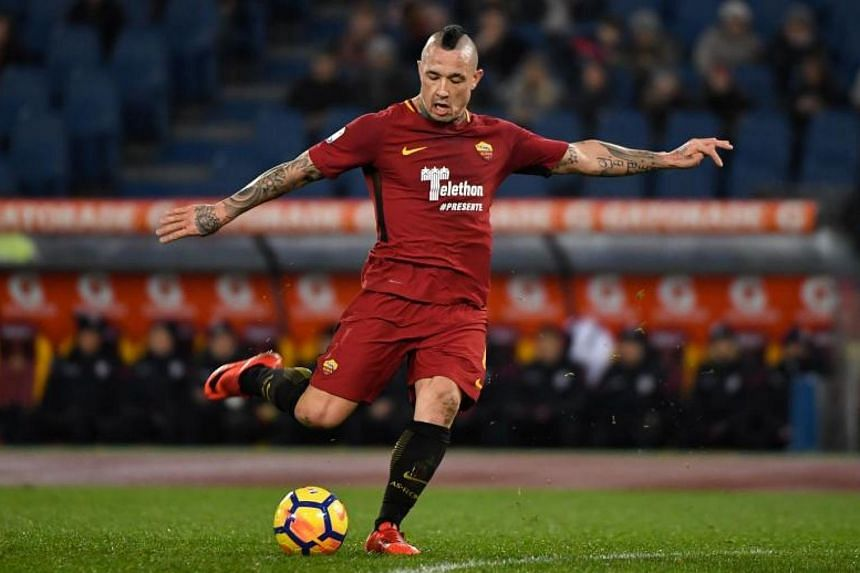 Roma's Belgian midfielder Radja Nainggolan has in the past rejected moves away from the Italian capital to clubs including Chelsea and Juventus.