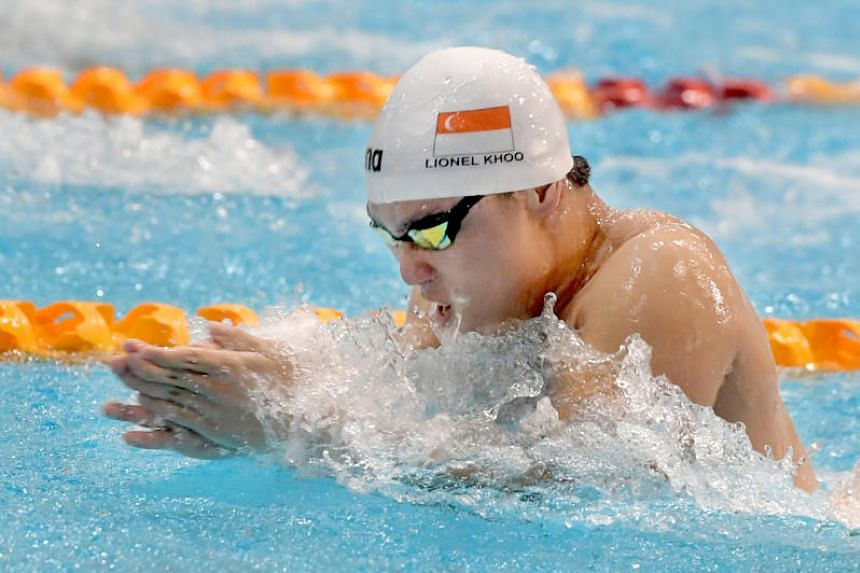National swimmer Lionel Khoo has left Singapore Management University and will be studying and training on a scholarship by the University of South Carolina from next week.