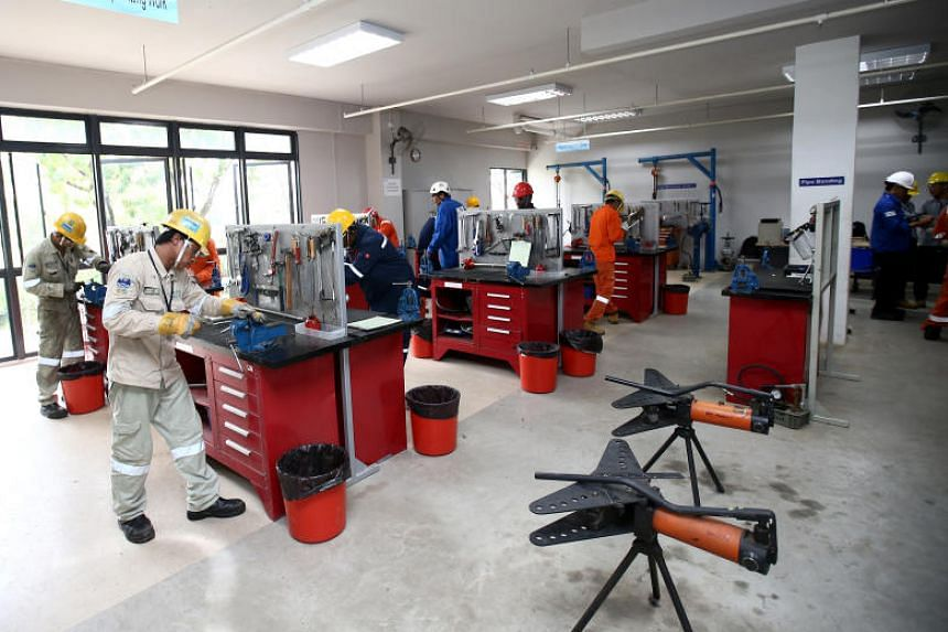 Workers can attend courses at the dormitory.