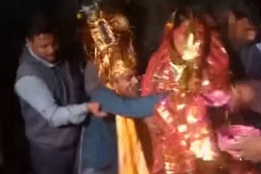 Videos circulated on social media show a man being manhandled and forced to dress for a wedding as he pleads for freedom.