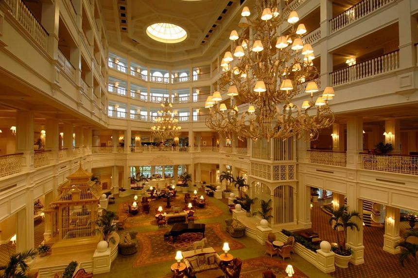 A view of the main lobby at Disney's Grand Floridian Resort & Spa.