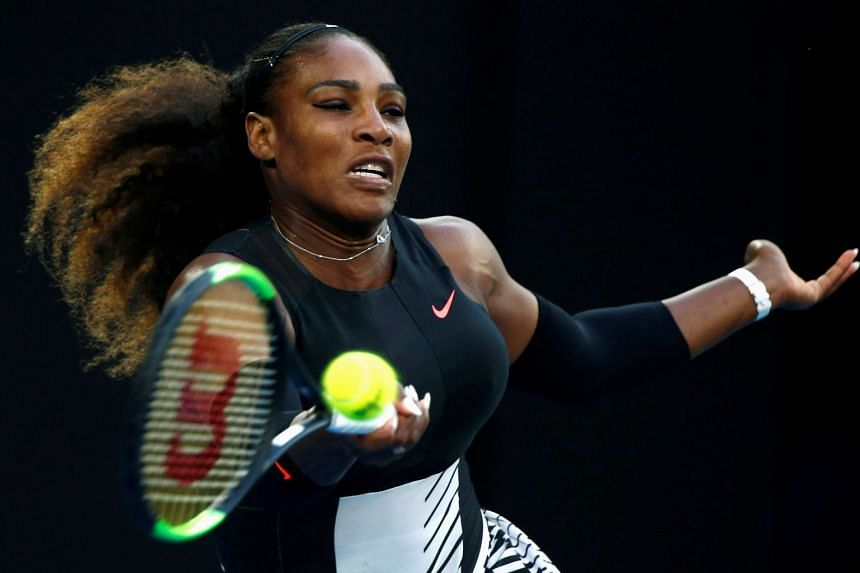 Serena Williams said she is still not at the level she needs to be after giving birth to her first child.