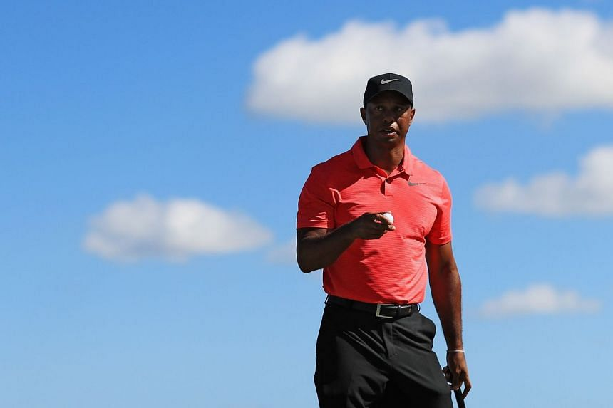 Woods at the Hero World Challenge in the Bahamas on Dec 3, 2017.