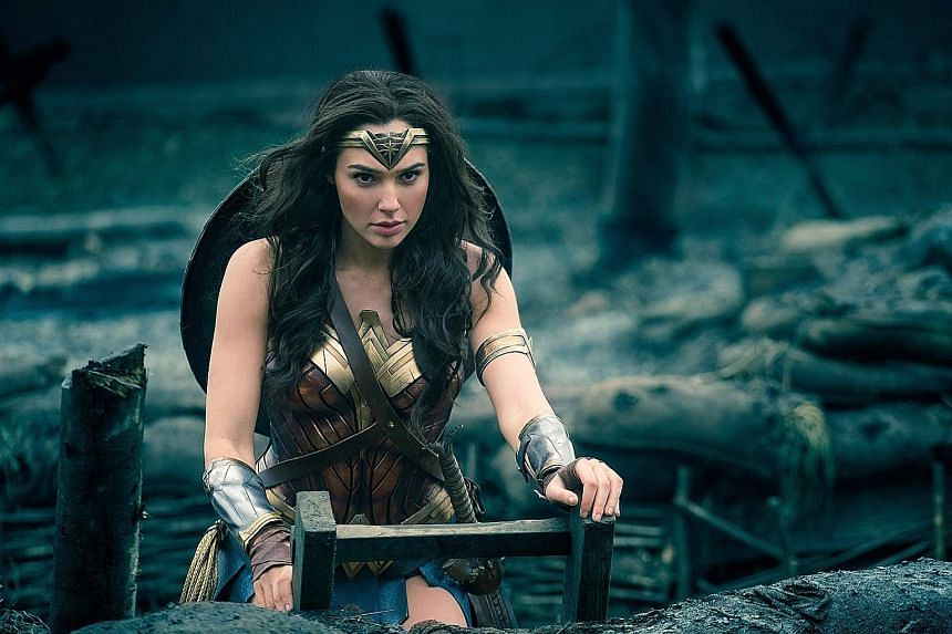 Even though critically lauded movies such as Wonder Woman (above) were directed by women, Hollywood is still dominated by white men.