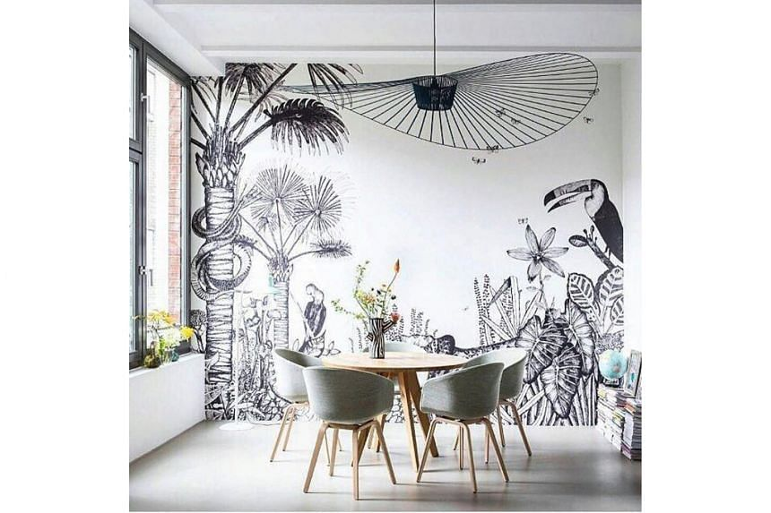 The tropical palm print (above) and bucket sink will continue to be popular.