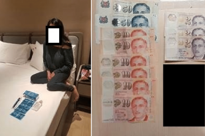 A 32-year-old woman, believed to be a Spanish national, was arrested under the Women's Charter.