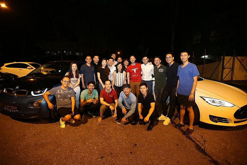 A gathering for electric vehicle enthusiasts organised on Friday at Dempsey Hill by the EV Association of Singapore, which grew out of a Facebook group called Singapore EV Enthusiasts. The electric car population in Singapore increased sevenfold last