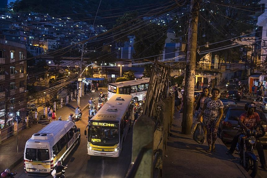 Killings in Rocinha, a Rio de Janeiro favela that was once a symbol of Brazil's rising fortunes, have quadrupled in less than a year. It is a reflection of a national plague - a record 61,000 violent deaths were recorded in the country in 2016, as po
