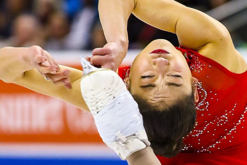 Mirai Nagasu, performing at the US Figure Skating Championships on Jan 5, 2018, will compete at will compete in Pyeongchang.