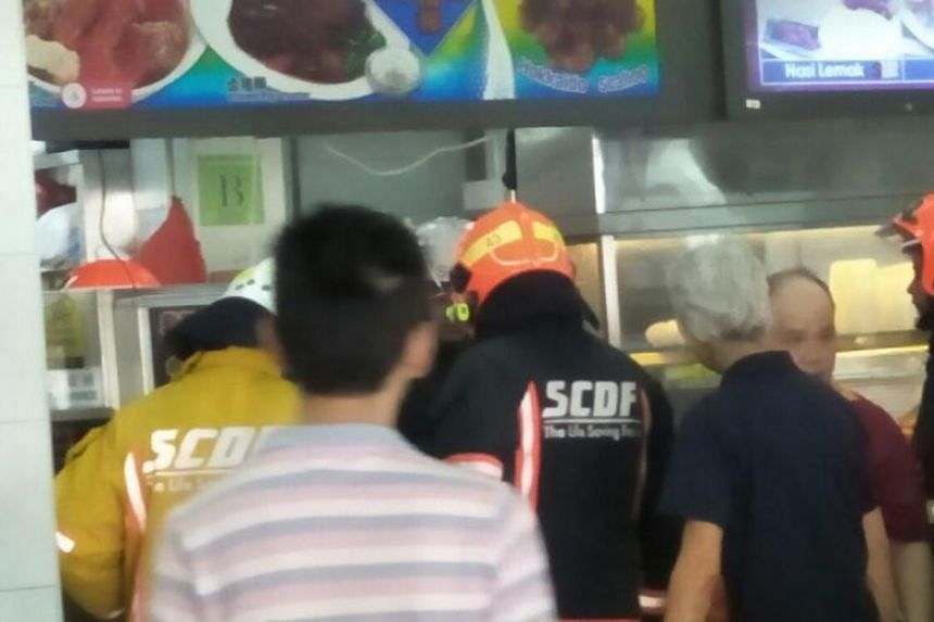 The SCDF was alerted to the fire at 10am, but members of the public put out the fire before SCDF officers arrived on the scene.