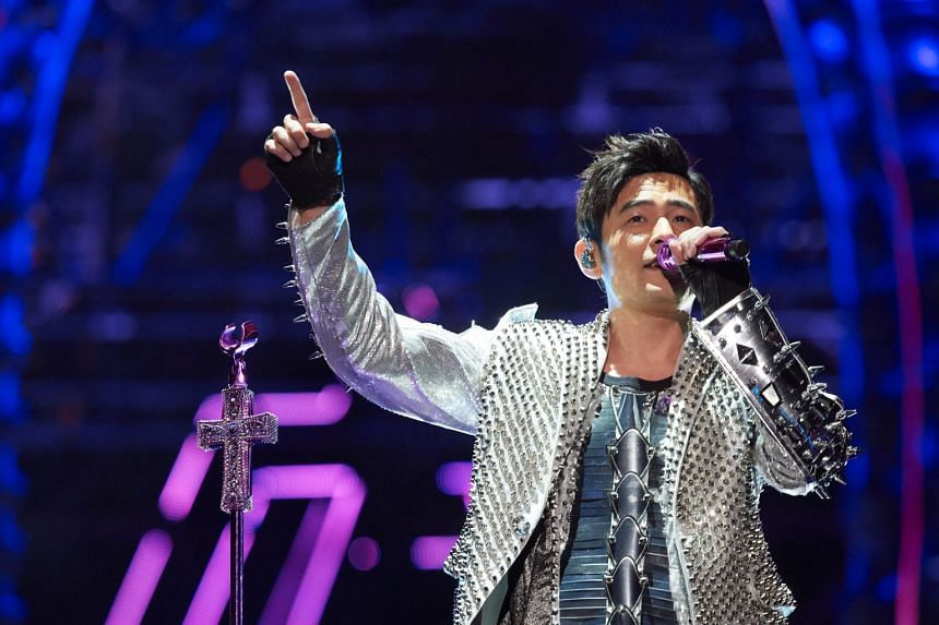 Taiwanese superstar Jay Chou during his concert, titled The Invincible 2 Jay Chou Concert Tour 2018, at the National Stadium on Jan 6, 2018.