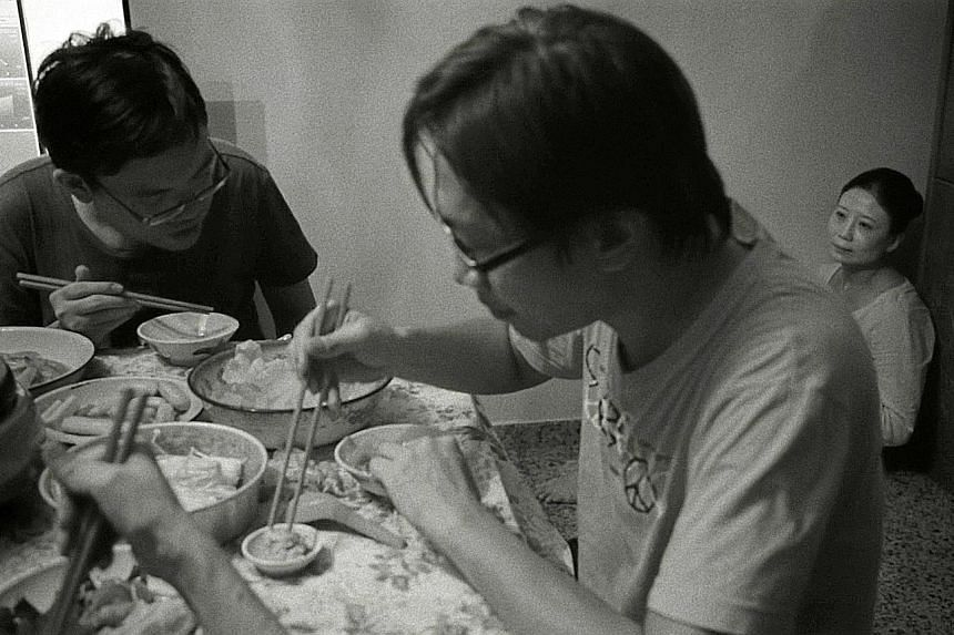 Their Remaining Journey, the debut feature film by Singaporean photographer John Clang (above), stars Doreen Toh (top right), who plays the ghost of a dead theatre actress.