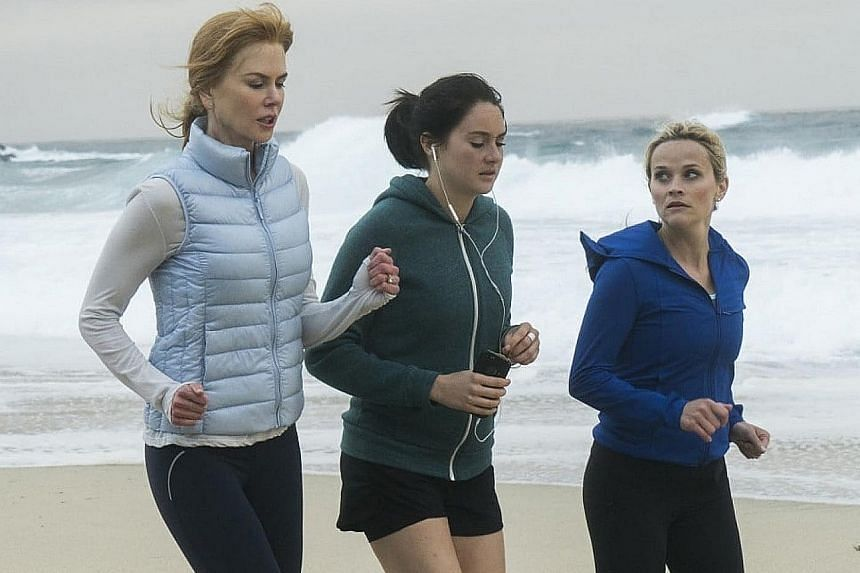 Popular new shows this past year included HBO's Big Little Lies, which stars (from far left) Nicole Kidman, Shailene Woodley and Reese Witherspoon.