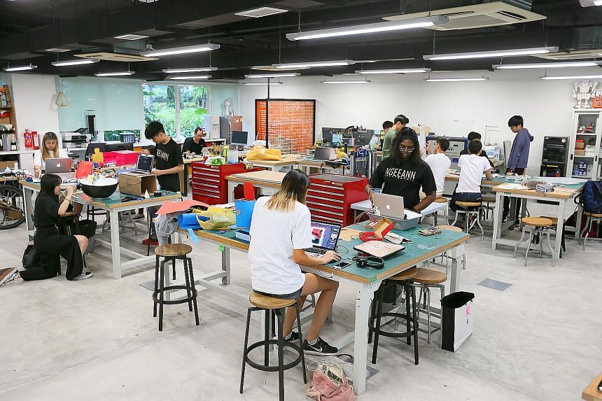 To help wannabe entrepreneurs, Ngee Ann Polytechnic has a state-of-the-art maker space for students to build 3D prototypes of products.